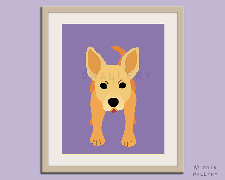Chihuahua print puppy dog nursery decor. Dog nursery print. Art for children, kids decor. Custom dog art kids. Art print by WallFry