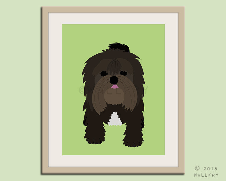 Havanese print puppy dog nursery decor. Dog nursery print. Art for children, kids decor. Custom dog art kids. Art print by WallFry