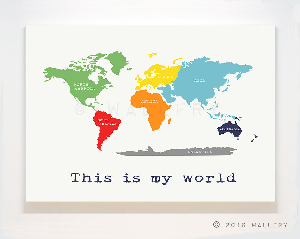 Map canvas wrap world wallfry pty ltd huge canvas world map with labels large gallery wrap canvas world map nursery decor gumiabroncs Images