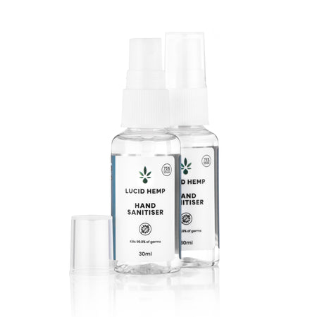 Hemp hand sanitiser spray