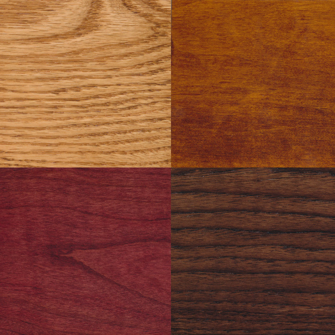 Hardwood Samples for our Wood Furniture