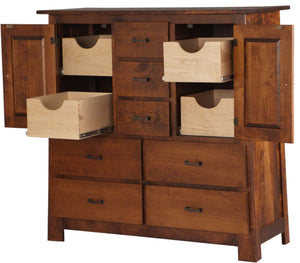 "50"" wide x 50"" high Teton Wardrobe Dresser in Iconic Maple"