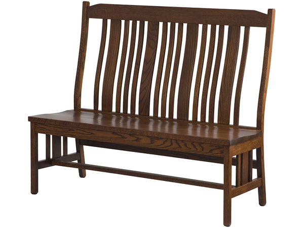 Plains Mission Dining Bench with Back