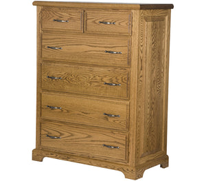 6 drawers. Hudson Dresser in Medium Oak