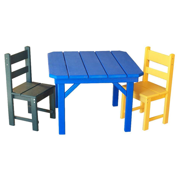 "28"" Children's Square Table (20"" high), pictured with Children's Economy Chairs"