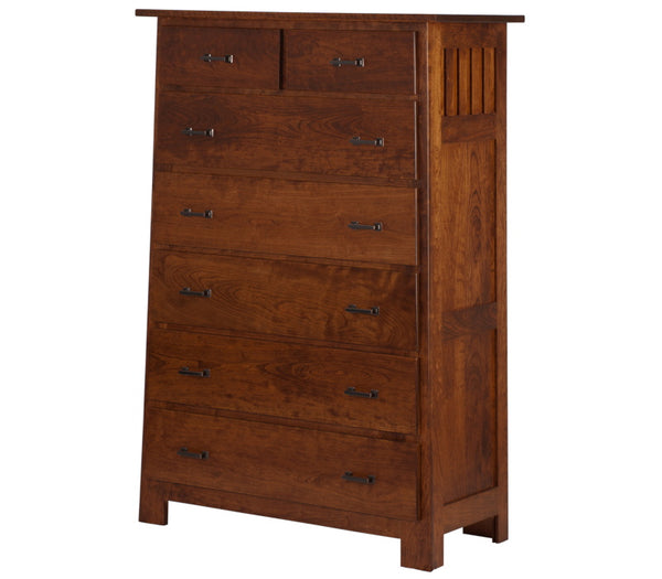 "60"" high x 40"" wide Teton Vertical Dresser in Antique Cherry"