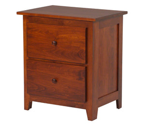 "2 drawers, 30"" high x 25"" wide Shaker nightstand in Iconic Maple"