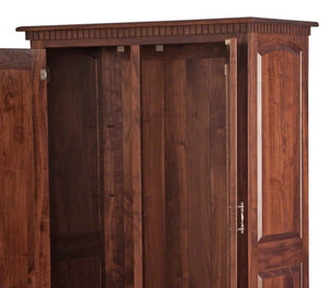 "70"" high x 40"" wide x 20"" Valencia Armoire in Smoky Walnut"