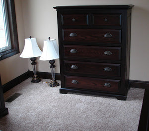 "6 drawers, 50"" high x 40"" wide, Hudson Dresser n Frontier Oak"
