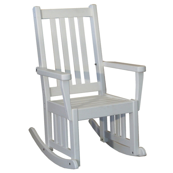 "18"" Mission Outdoor Rocker in White"