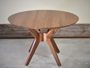 Mid-Century Modern Round Dining Table