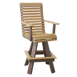 Rollback Outdoor Swivel Bar Chair
