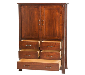 Seville Armoire Dresser in Rich Cherry