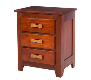 "3 drawers, 30"" high x 25"" wide Shaker Nightstand with Zen Hardware, in Iconic Maple"