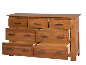 60″ x 36″ Teton Dresser in Nebraska Quarter Sawn Oak