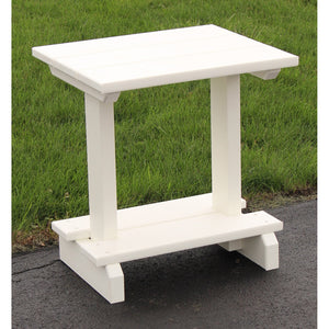 "17"" x 20"" End Table in White"
