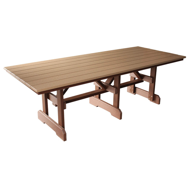 "8' long x 39"" wide Rectangle Table in Brown"