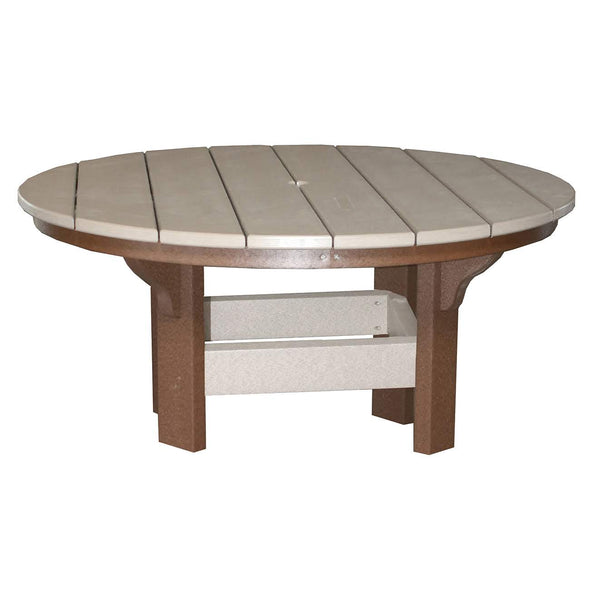 "42"" Round Coffee Table in Tudor Brown & Weatherwood"