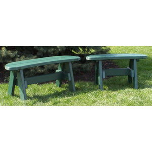 "42"" Garden Bench and 32"" Garden Bench in Green"