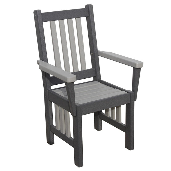 "18"" Mission Captain's Chair (40"" High) in Dark Gray & Dove"