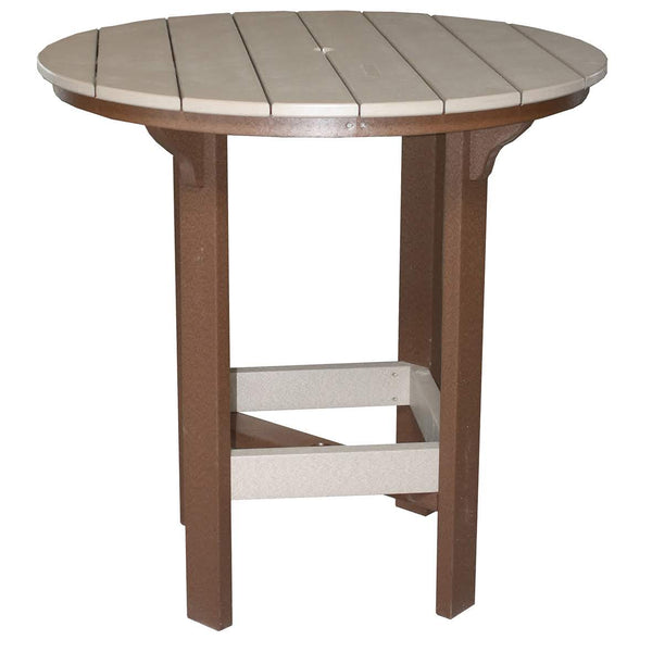 "42"" Round Bar Table in Tudor Brown & Weatherwood"