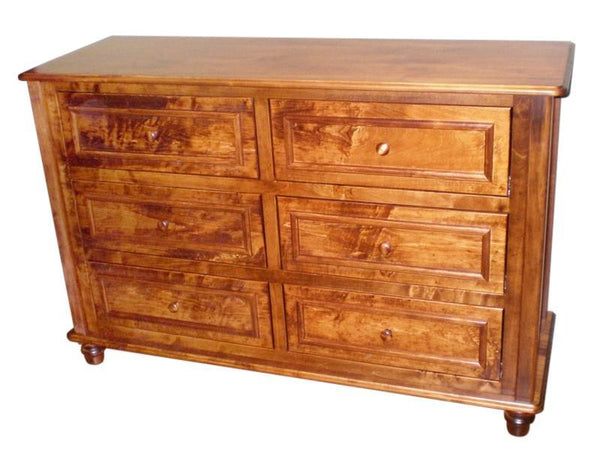 6 drawers, Lotus Horizontal Dresser in Colonial Maple