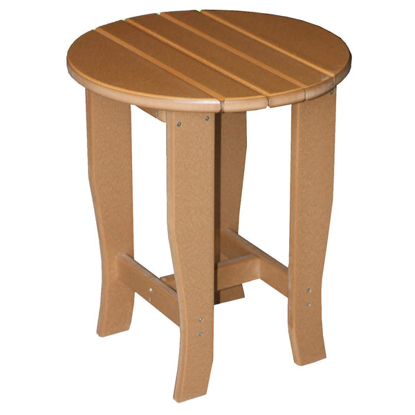 "19"" Round End Table in Cedar"