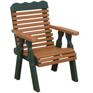 "22"" Plainback Chair in Green & Cedar"