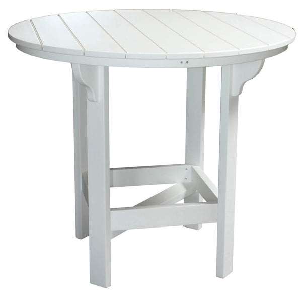 "48"" Round Bar Table in White"