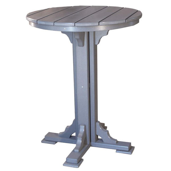 "34"" Round Bart Table in Dark Gray"