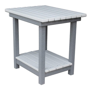 "22"" High Deluxe End Table in Dark Gray & Dove"