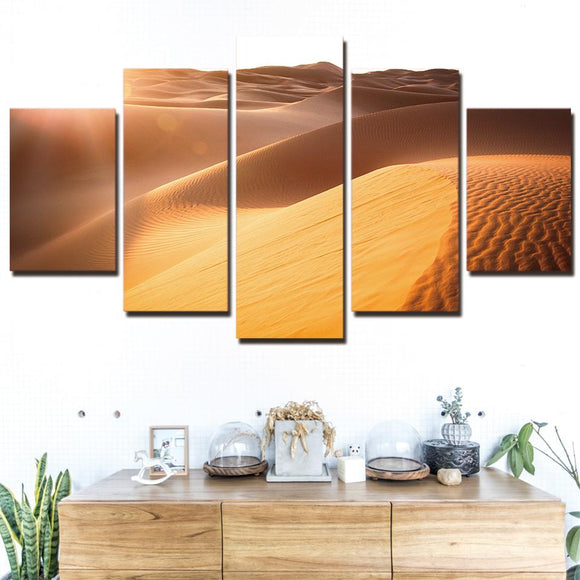 Sunshine Desert - Nature Canvas Wall Art