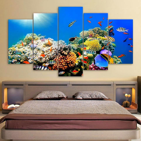 Tropical Sea Coral Reef - Nature Canvas Wall Art