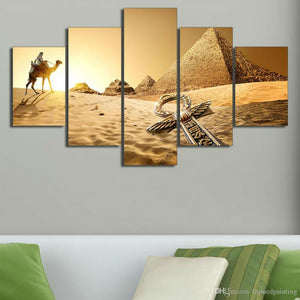 Egypt Pyramid Of The Desert - Nature Canvas Wall Art