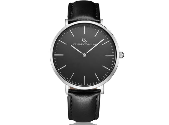 Zurich Line - Black Silver Black Leather