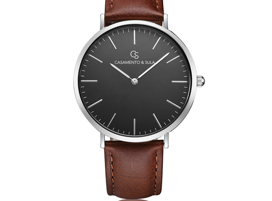 Zurich Line - Black Silver Brown Leather
