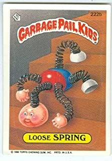 LOOSE SPRING #222B  1986 TOPPS GARBAGE PAIL KIDS CARD