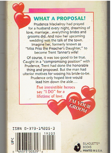 It'S Raining Grooms (I'M Your Groom) (Silhouette Romance) Mass Market Paperback – January 1, 1997 by Carolyn Zane  (Author)