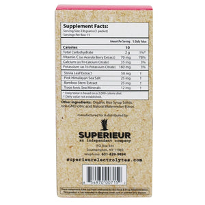Superieur Electrolytes - Fresh Watermelon Flavor (Packets)