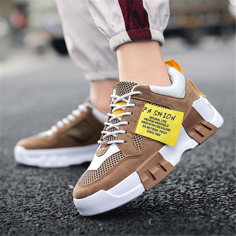 platform breathable wild sneakers