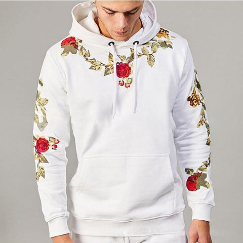 New Flower Embroidery Men's Sweater