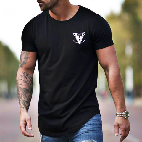 Casual  T-Shirts With Round Collar For Men