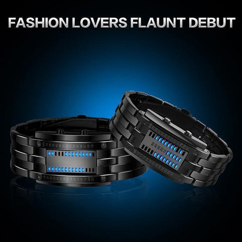 Fashion Creative Watches Mens Luxury Brand Digital LED Display