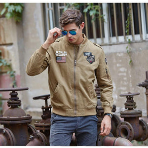 Embroidered Flight Jacket 3 Colors