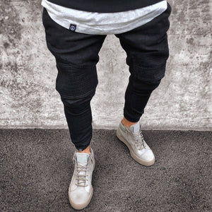 Fashion Pure Color Loose Ripped Jeans