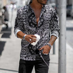 Fashion Printed Stand Collar Shirts
