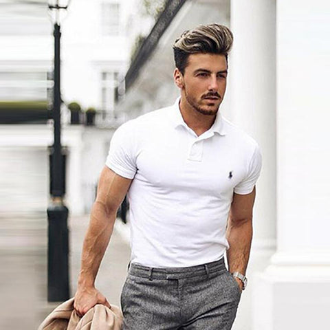 Simple And Stylish Short-Sleeved Lapel Polo Shirt
