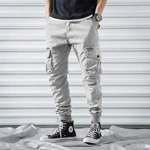 2019 New Fashion Solid Color Slim Jogger Pants