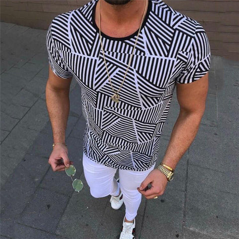 Summer Round Neck Printed T-Shirt