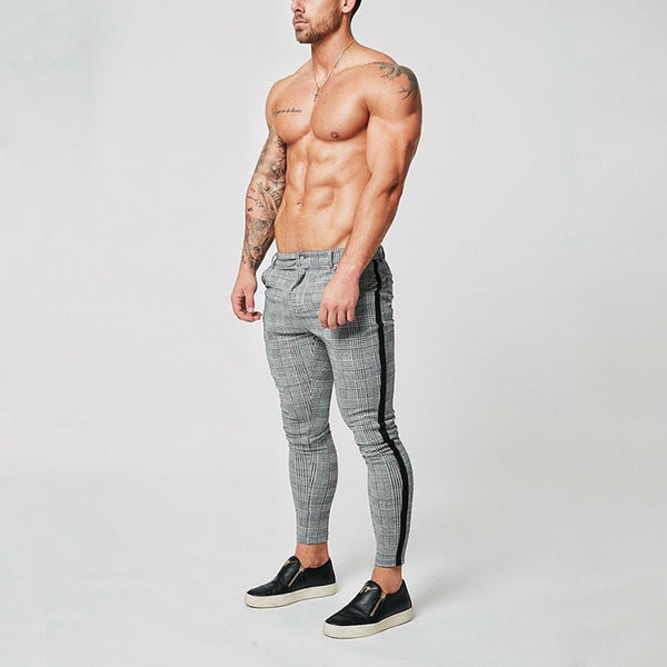 Men's Fashion Lattice Slim Fit Trousers